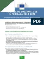 Fiche Sme POLITICA DE COEZIUNE A UE ÎN PERIOADA 2014-2020Ro