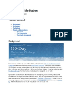 100 Days of Meditation