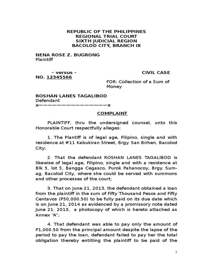 Complaint Affidavit Civil Case 2 FINAL | Lawsuit | Complaint