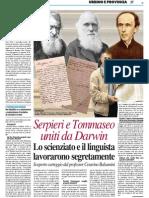 Serpieri e Tommaseo uniti da Darwin - Il Resto del Carlino del 28 febbraio 2015