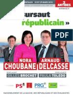 Nos propositions - Arnaud Delcasse & Nora Choubane - « Un sursaut républicain » pour Antibes et les Alpes-Maritimes