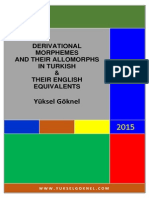 Derivational Morpemes and Their Allomorphs-signedTURKISH DERIVATIONAL ALLOMORPHS AND THEIR ENGLISH EQUIVALENTS, YUKSEL GOKNEL