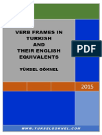 Verb Frames in Turkish and Their English Equivalents, Yüksel Goknel, 2015