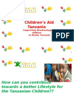 How can you contribute towards a better Lifestyle for the Tanzanian Children??