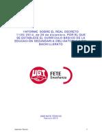 Informe sobre el Real Decreto que establece el currículo de la ESO y del Bachillerato.pdf