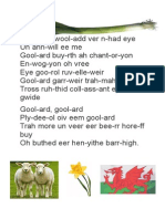 Muckle Welsh Words Buttheed