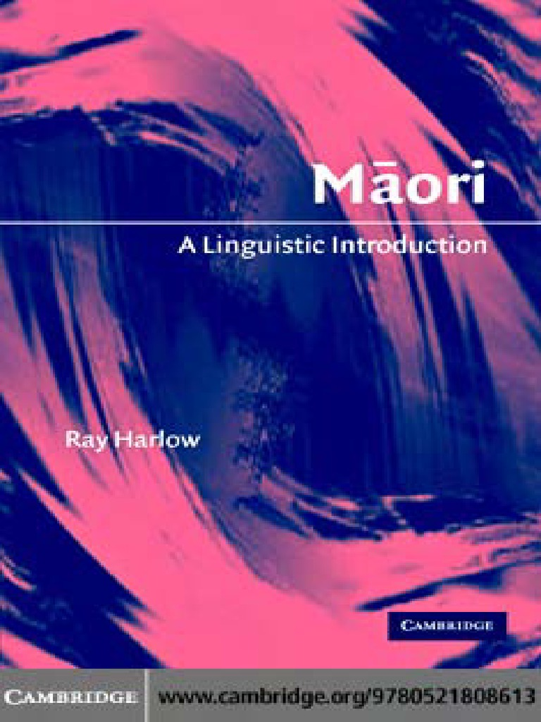 Maori a linguistic introductionpdf polynesia languages fandeluxe Image collections