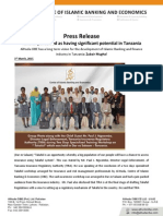 Press Release on Takaful Perceived as Having Significant Potential in Tanzania