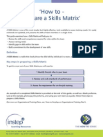 How to Create a Skills Matrix