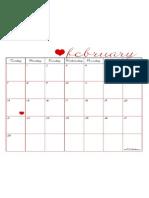 February 2010 Calendar - TomKat Studio