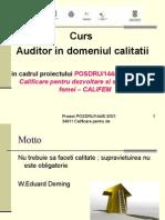 Auditor in Domeniu Calitatii -Suport v6