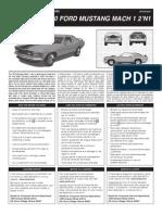 '70 Ford Mustang Mach 1 2'n1