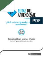 Fascículo de Rutas del Aprendizaje 2015 Nivel de Educación Secundaria