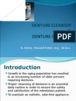 Iii_IMKG3_KULIAH Denture Cleanser & Denture Adhesive 2013