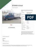 Vehicule Comerciale Volkswagen Craiova 2001 3800 EUR - Autovit