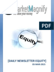 Daily Accurate News Letter for Equity