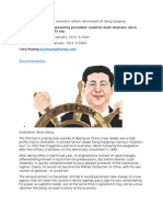 Xi Jinping's Proposals for Economic Reform Reminiscent of Deng Xiaoping