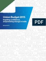 KPMG Union Budget 2015