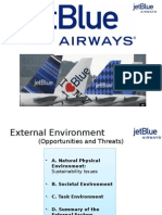 Jet Blue Airways External Enviornment