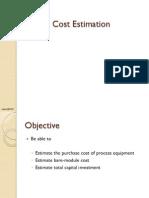 Plant Design Costing Revision