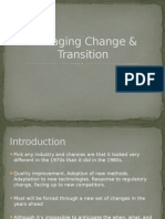 Managing Change & Transition
