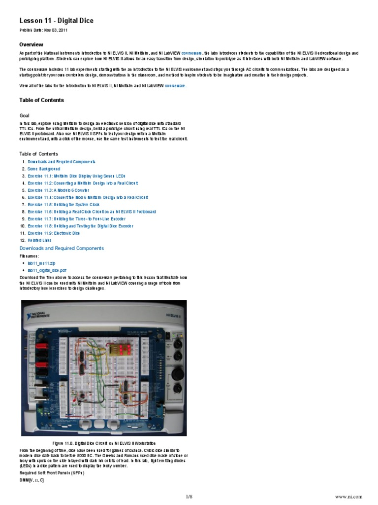 Ni Tutorial 13581 En Electronic Circuits Electrical Electronically Designed Dice Game Circuit By Lm555