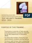 test monitor security training 2014-15 1