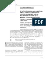 Actualización de Las Recomendaciones Sobre El Uso de La Monitorización Ambulatoria de Presión Arterial.soc