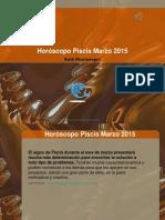 Horóscopo Piscis Marzo 2015