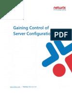 Gaining Control of Server Configurations
