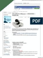 TP-LINK TL-MR3020 + OPENWRT + WEBCAM