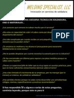 ASESORÍAS DE SOLDADURA