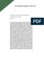EGON SCHÜTZ.anthroplogie Und Funktion Der Skepsis.vierteljahrschaft Fur Wissenschaftliche Padagogik 70