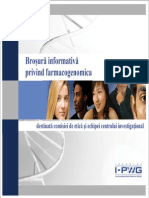 Romanian I-PWG Pharmacogenomics Informational Brochure