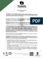 Circular 050-2014 Municipio de Medellin