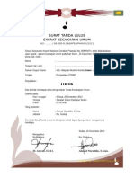 Piagam Pramuka-surat Tanda Lulus Sku