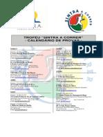 Calendário de Provas Trofeu Sintra 2015