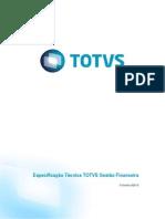 Especificação Tecnica - Totvs Gestão Financeira