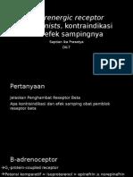 Β-Adrenergic Receptor Antagonists, Kontraindikasi Dan Efek