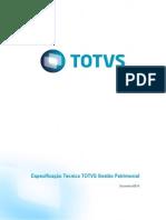Especificação Tecnica - Totvs Gestão Patrimonial