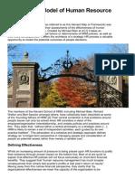 The Harvard Model of Human Resource Management