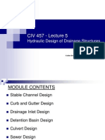 Lecture 4 Hydraulic Design of Drainage Structures