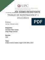 TB1 2014-1 Ingeniería Sismo-resistente (CI18)