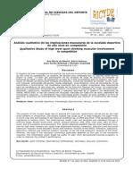 Analisis Cualitativo de Las Implicaciones Musculares de La Escalada Deportiva de Alto Nivel en Competicion