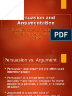 An Introduction to Persuasion and Argument