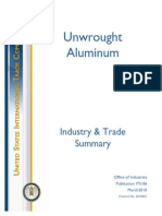 unwrought aluminium