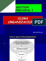 Tema 07 Clima Organizacional Clases