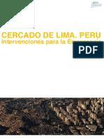 CERCADO DE LIMA. PERU Intervenciones para la Emergencia