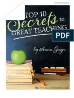 Top 10 Secrets to Great Teaching