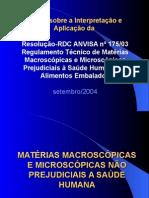 Curso Interpretação RDC175 2003 Anvisa